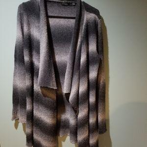 Prana Gray Black Ombre striped cardigan Size S